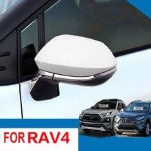 4Pcs ABSกระจกมองข้างกระจกฝาครอบอุปกรณ์เสริมสำหรับ2019 2020 Toyota RAV4 RAV 4รถจัดแต่งทรงผม