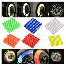 Bicycle Reflective Spokes Attached To The Wire Card Warning Night Light Reflective Mountain Bike Bicycle
