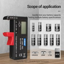 BT-168 PRO 1.2-4.8V AA/AAA/C/D Mini Battery Tester Quickly Testing for 18650 16340 14500 10440 Lithum Battery Capacity