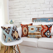 Creative Cusions for Sofa Embroidered American Bedside Embroidery Pillow Set Comfortable Decorations for Home Throw
