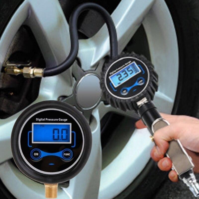 Car Tire Pressure Gauge Digital Display Head Air Pressure  Inflation Meter Test Meter Inspection Tool