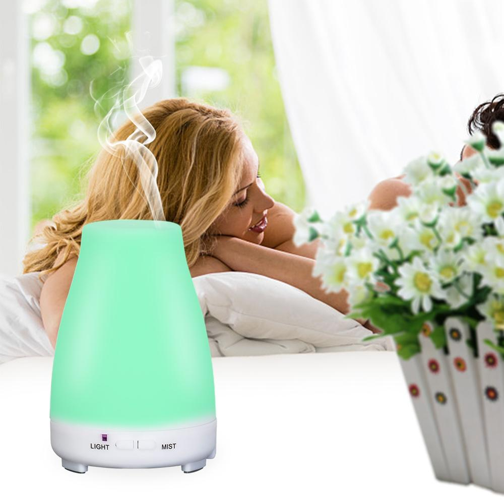 200ML Electric Aroma Diffuser Ultrasonic Air Humidifier Essential Oil Diffuser Aromatherapy 7 Color Night Light For Home Office