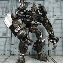 Transformação robô preto mamba ls02 LS-02 bmb ko mpm05 MPM-05 polícia barricada mp liga figura de ação coleção modelo brinquedos