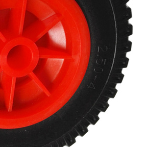 Image 5 - 2 Pieces/ Set 10 0.88 Durable Puncture Proof Rubber Tyre on Red Wheel for Kayak Trolley Cart Boat Trailer Kayak Cart Wheel