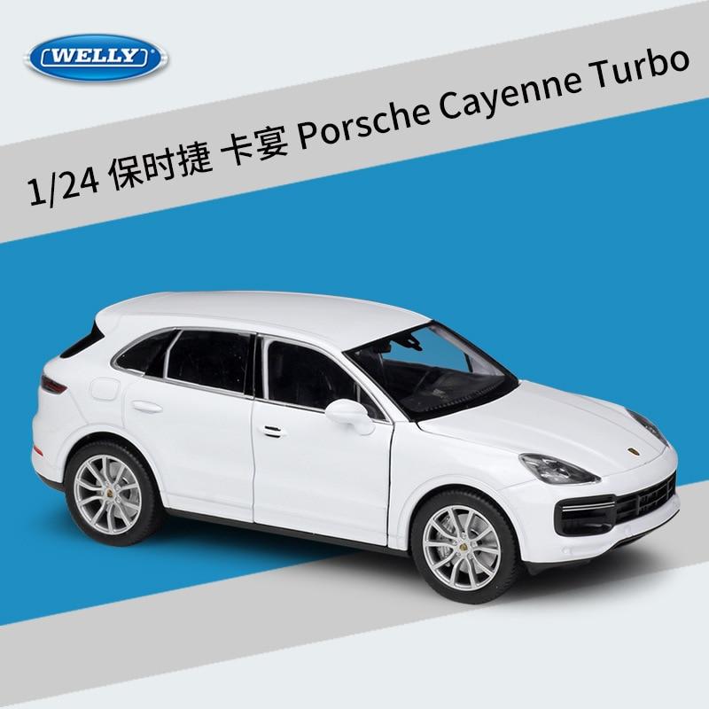 welly 1 24 porsche cayenne turbo liga modelo de carro diecasts veiculos de brinquedo coletar presentes