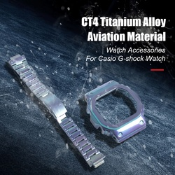 Titan Legierung Armband Für Casio G-schock Uhr Fall DW5600 GW5600 DW5000/5035 Uhr Lünette Für Casio GW-M5610 Uhr Band