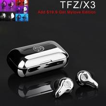 TFZ X3 Bluetooth 5.0 Earbuds Touch Earphone Aptx True Wireless 2BA Dual Driver Headset Hands Free Noise Cancelling Sport Headset