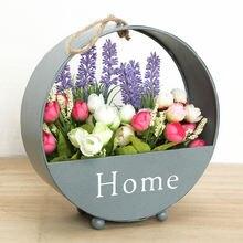 Креативная кованая корзина для цветов имитация растений Цветочная