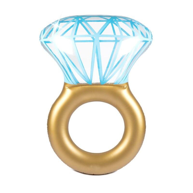 """גלגל בריכה בצורת טבעת יהלום ענק 140 ס""""מ 5"""