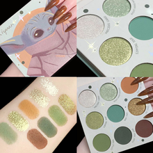 9 Colors Eyeshadow Fine Powder Natural Three-Dimensional Easy To Color Student Glitter Cartoon Eyeshadow