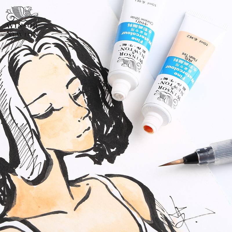 Windsor Newton Watercolor Paint Flesh-white Colored Acquarello Single Tube Wasserfarbe Acuarelas Profesionales For Art  Akwarela