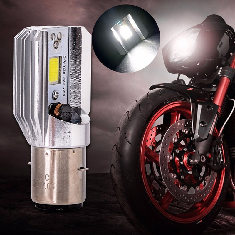 Led Headlight 1200 Lumens White H6 BA20D COB 12W Led Bulb For Motorcycle Headlights Electric Cars Head Light Lamp High Low Beam