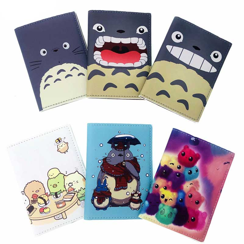 YIYOHI Cute Travel Passport Case ID Card Cover Passport Holder Protector Totoro Organizer Travel Super Quality Card Holders