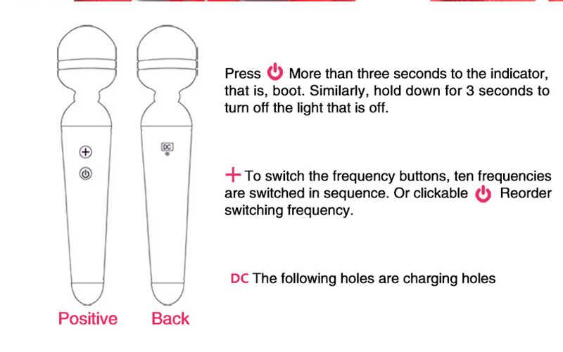 Varinha mágica Carga USB G-Spot Vibrador Sexo Brinquedos Para Mulher Clitóris Estimulador Sex Shop Adultos Do Sexo Vibrador vibrador brinquedos Para As Mulheres