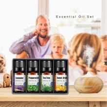 4 Pcs Pure Natural Aromatherapy Essential Oil Set Moisturizing Nourishing Skin Foot Bath Scraping Massage Oil peppermint essential oil nourishing skin shrinking pores massage scraping lumbar pain relief relieve body stress skin care