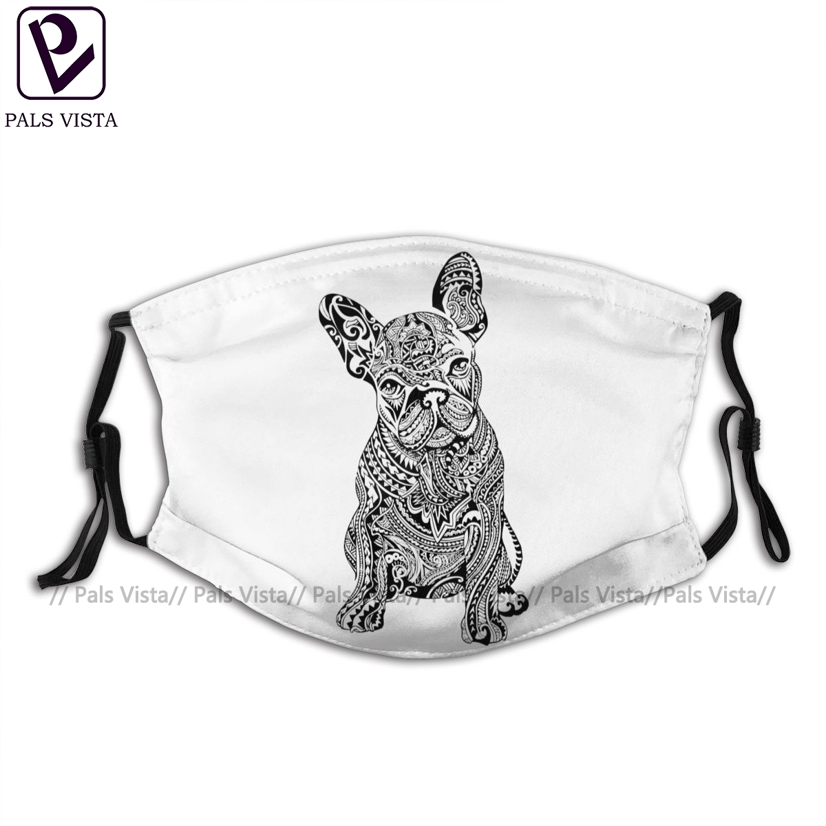French Bulldog Mouth Face Mask Polynesian French Bulldog Facial Mask Cool Fashion With 2 Filters For Adult