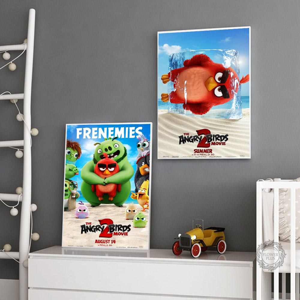 Top Rated Canvas Print The Angry Birds Movie 2 Modern Decorative Art  Painting Canvas Poster Wall Home Decor|