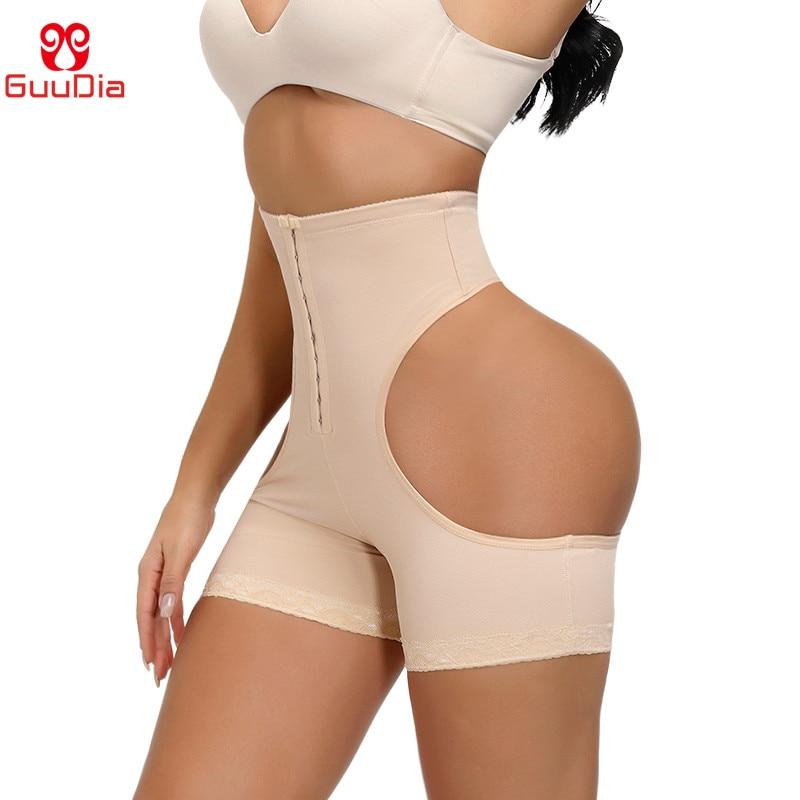 GUUDIA Butt Lifter Shapers Body Shaper Push Up Girdle Hi Waist Cincher Tummy Control Panties with Hook Sexy Thong Shapewear