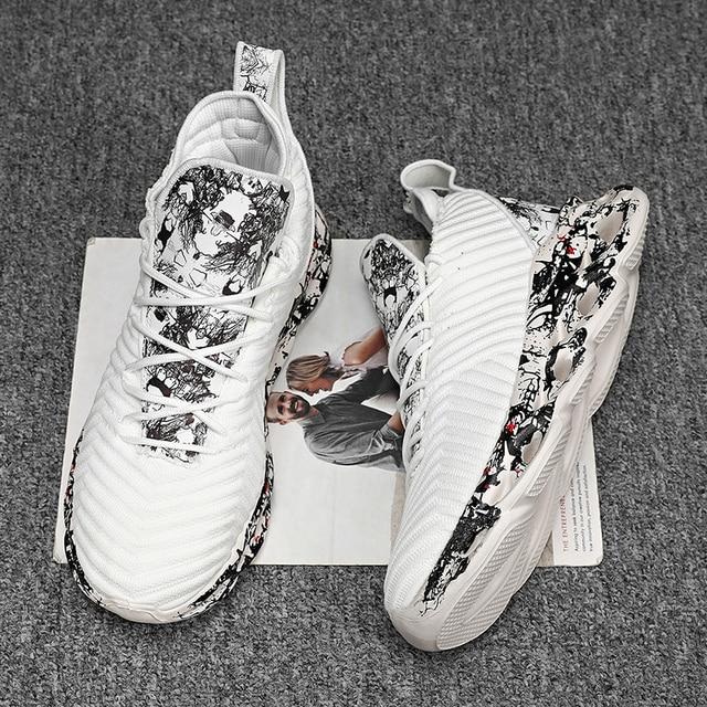 2021 Men Graffiti Sports Shoes -Breathable  3