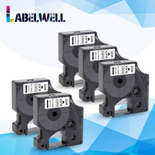Labelwell Black on White 12mm  Dymo D1 45013  label tape compatible for Dymo Label Manager Maker 210 450 LM160  LM280  120P 150