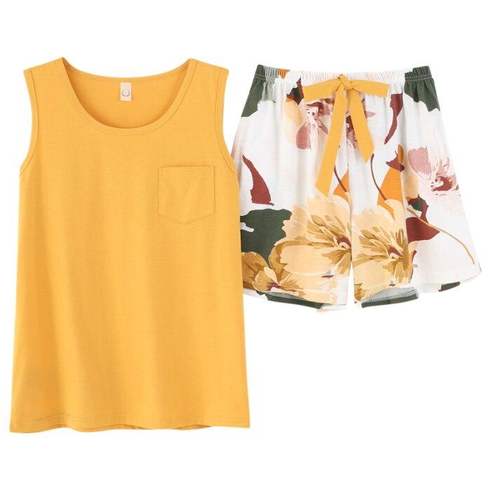 Sxey Summer Women's Pajamas Sets Sleeveless Sleepwear Nightwear Pj Lounge Sets Pyjamas Pijama Pijamas Pizama Damska