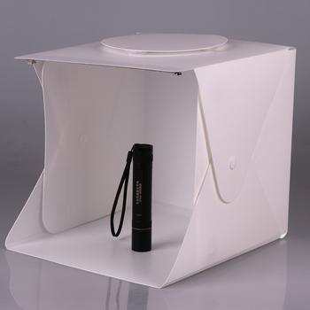 SOONHUA Mini składane ściemniacze oświetlenie do studia fotograficznego Box strzelanie namiot z podwójna lampa LED diody na wstążce 6 tła do fotografii tanie i dobre opinie 24*23*22cm as show 1238678