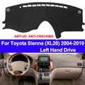 TAIJS แดชบอร์ดแผงควบคุมรถยนต์ Dash สำหรับ TOYOTA SIENNA XL20 2004 2005 2006 2007 2008 2009 2010 Non-SLIP sun Shade Pad พรม