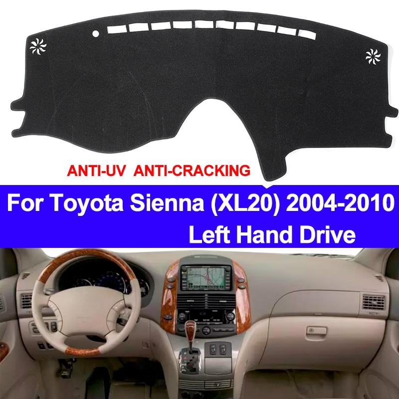TAIJS Car Dashboard Cover Dash Mat For Toyota Sienna XL20 2004 2005 2006 2007 2008 2009 2010 Non-slip Sun Shade Pad Carpet