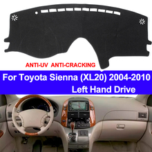 TAIJS 자동차 대시 보드 커버 대시 매트 Toyota Sienna XL20 용 2004 2005 2006 2007 2008 2009 2010 미끄럼 방지 차양 패드 카펫