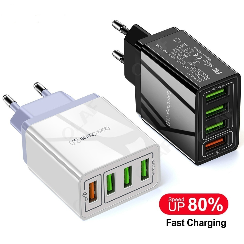 EU/US Plug USB Charger Quick Charge 3.0 For Phone Adapter for Huawei Mate 30 Tablet Portable Wall Mobile Charger Fast Charger