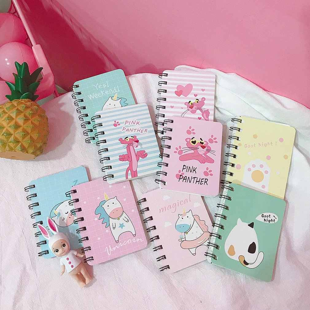 Small Rollover Travel Notebook Student Portable Coil Notebook Mini Korea Creative Pocket Notepad Book Stationery