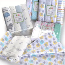 4Pcs/Lot Muslin 100% Cotton Flannel Baby Swaddles Soft Newborns Blankets Newborn Diapers Swaddle Wrap