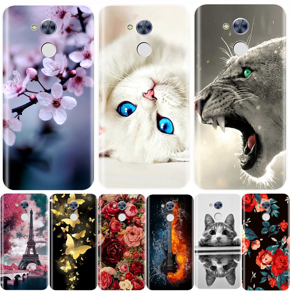 Phone  Case  For Huawei Honor 6A 6X 6C Pro Soft Silicone TPU Cute Cat Painted Back Cover For Huawei Honor 5C 5X 4C 4X  Case