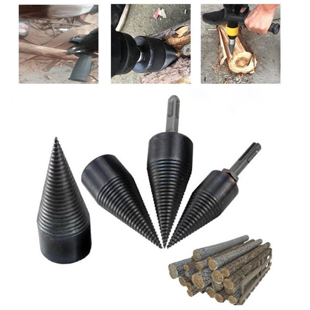 Hex Shank Firewood Splitter Machine Drill Wood Cone Tools Drill Driver Drilling Punch Split Reamer Bit L8M2