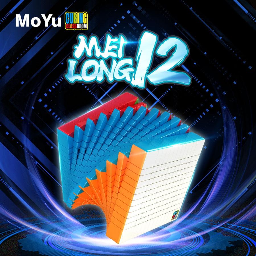 Cube magique puzzle MoYu Cubing salle de classe MeiLong 12x12x12 12x12 professionnel haut niveau cube éducatif torsion sagesse jouets jeu