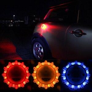 Geoeon LED Emergency car Lights Road Flares Warning Night Lights Roadside Disc Beacon Red Blue Led Police road Led Light