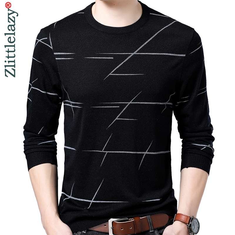 2019 Brand New Casual Thin Striped Knitted Pull Sweater Men Wear Jersey Dress Luxury Pullover Mens Sweaters Male Fashions 90302