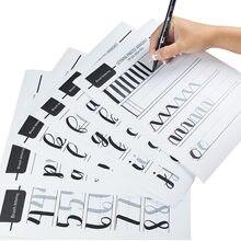 Fonte artística inglês copybook exercício regular itálico pode ser usado repetidamente caligrafia exercício estudante italic copybook