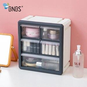 Image 2 - BNBS Kunststoff Lagerung Box Kosmetik Organizer Desktop Multi schicht Schublade Fall Werkzeuge Perle Ringe Schmuck Make Up Veranstalter