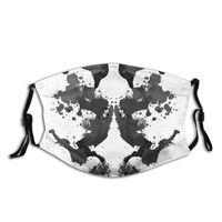 Ocean Rorschach-mascarilla facial lavable para hombres y mujeres, máscara resistente al viento, a prueba de frío, con filtros, cubierta de protección de poliéster