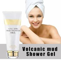 Whitening Volcanic Mud Bath Milk Cream Body Wash Exfoliating Body Lotion for Men Women SSwell 3