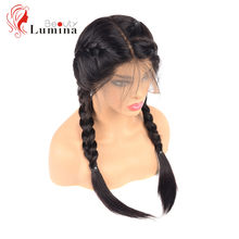 Full Lace Wig Human Hair Brazilian Lace Front Wigs With Baby Hair 180% Density Straight Lace Front Wig Pre plucked Natural Hair(China)