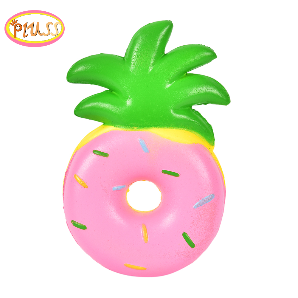 Kawaii Pineapple Donut Squishy Fruit Squishy Slow Rising Scented Bread Squeeze Toys Simulation Craft Decor Xmas Kids Gift