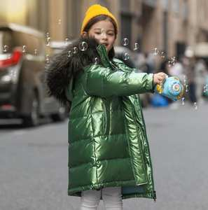 Jacket Girl Coat Fashion Children's Natural-Clothing Hooded Winter 90%Duck-Down Warm