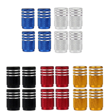 DSYCAR 4 шт./лот универсальные колпачки клапанов из алюминиевого сплава для автомобилей, грузовиков, мотоциклов, велосипедов, крышка клапана, а...
