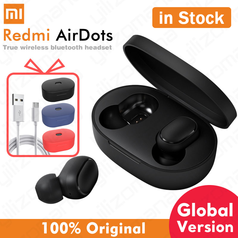 Xiaomi airdots Redmi AirDots Wireless Bluetooth 5.0 Earphone In-Ear stereo bass Earphones With Mic Handsfree Earbuds AI Control title=