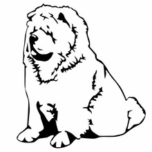 Decals-Cover Chow Chow Car-Sticker Vinyl Motorcycl PVC 15cm-X-14cm Scratches Dog Waterproof
