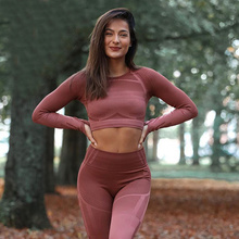 GEO SEAMLESS Yoga Set Cut-out Back Crop Top High Rise Fit Gym Leggings Ribbed Workout Set Fitness Clothing 2 Piece Set Women cut out crop top