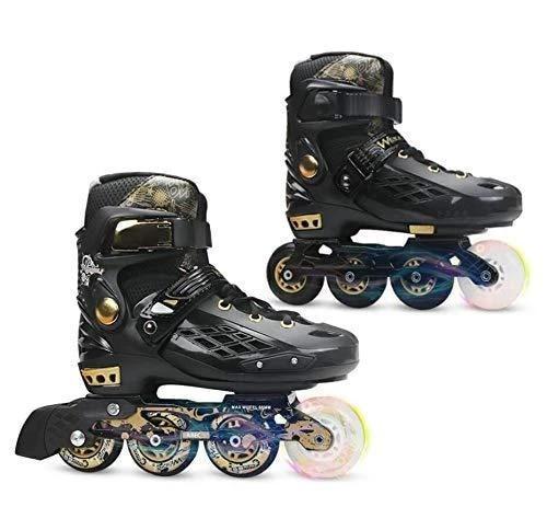YF YOUFU Inline Schaatsen Volwassen Roller skate schoenen Illuminating Wielen 76W Zwart Wit