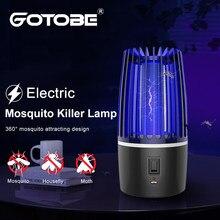 Ao ar livre lâmpada assassino do mosquito elétrico led uv bug zapper fotocatalisador anti mosquito armadilha de carregamento usb luz acampamento luzes da noite
